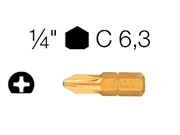 Immagine per la categoria A5 - Inserti per viti (Bits)